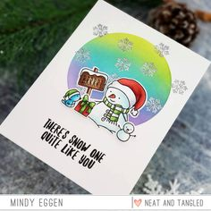 Snow Fun with Neat & Tangled – Mindy Eggen Design Neat And Tangled, Tim Holtz Distress Ink, Snowman Cards, Snow Fun, Distress Oxide Ink, Copic Markers, Winter Scenes, My Images, Holiday Cards