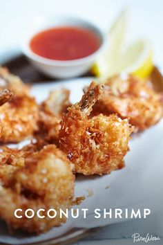 Coconut Shrimp recipe. No need to spend $10 on an app, make this delicious recipe right at home. Popular Appetizers, Best Appetizer Recipes, Appetizer Salads, Holiday Appetizers, Coconut Shrimp Recipes, Healthy Coconut Shrimp, Party Snacks, Game Day Snacks, Onion Rings