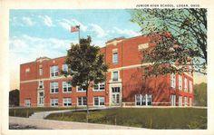 Logan Ohio Junior High School General Exterior View Antique Postcard V17389