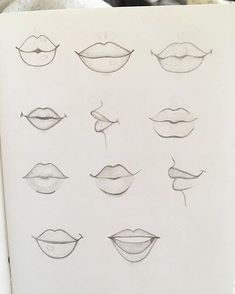 Practicing lip drawing seems like a strange thing on a Monday night . - Practicing lip drawing seems like a strange thing to do on a Monday night – - cartoon drawings Drawing Techniques, Drawing Tips, Drawing Sketches, Drawing Drawing, Drawing Reference, Drawing Ideas, Sketching, Drawing Designs, Drawing Faces