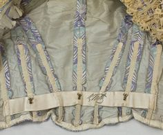 Victorian Clothing at Vintage Textile: #2768 Worth satin gown 1900
