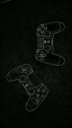 drawn (using chalk) game controllers wallpaper Dark Wallpaper, Screen Wallpaper, Mobile Wallpaper, Wallpaper Backgrounds, Video Game Posters, Video Game Art, Video Game Rooms, Gaming Wallpapers, Cute Wallpapers