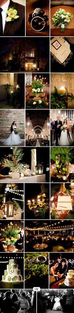 lovely, organic winter wedding
