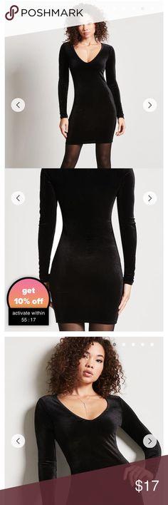 Black Velvet Dress Worn once Good as New Forever 21 Dresses Mini