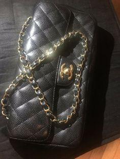 867e9680ff5a RARE 06-08 Chanel Caviar East West Flap Hangbag Bag