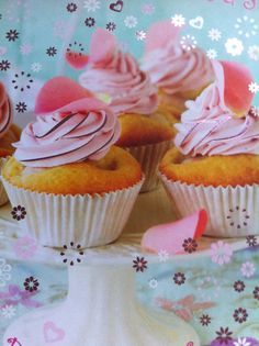 Cupcakes de lichia