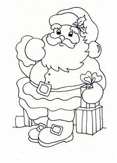 Santa - Christmas Coloring Pages Santa Coloring Pages, Printable Adult Coloring Pages, Disney Coloring Pages, Christmas Coloring Pages, Colouring Pages, Coloring Books, Christmas Doodles, Christmas Card Crafts, Christmas Colors
