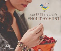 The #chloeandisabel #holidayhunt is on! Search our gift guide + FIND the 'Chloe-bel birdie' icon to learn how you can ENTER to win a #chloeandisabel ring wardrobe, now thru 12/10! www.jusadore.com #everygirlloves #jewelry #ringbling #Shop #sale #sparkle #shopsmall #stockingstuffers #shoplocalbusiness #deals #fashion #frostyourself #gift #giftideas #holiday #jewels #christmas #bling #boutique