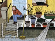 Sophia Martineck Springtime 2012 #onlyart_illustration #home #cat #illustration #print #graphicdesign #art #onlyart