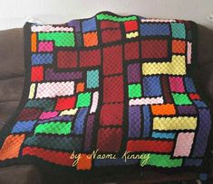 This Stained Glass Cross Afghan crochet pattern is a wonderful project to use up some leftover yarn, so many gorgeous color options.What you need for the Stained Glass Cross afghan: Scrap Yarn Crochet, C2c Crochet Blanket, Crochet Quilt, Crochet Afghans, Crochet Ripple, Afghan Crochet Patterns, Quilt Patterns, Crotchet Patterns, Cross Patterns