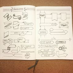 Inspiration for banners and headers #bulletjournaling #bujoinspire  #ptldoodles…