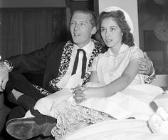 Jerry Lee Lewis married Myra Gale Brown, his first cousin once removed. He was 22 and this was his third marriage. Celebrity Wedding Photos, Celebrity Couples, Wedding Pics, Celebrity Weddings, Wedding Couples, Wedding Dresses, Old Celebrities, Hollywood Celebrities, Celebs