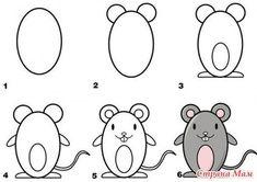 muis tekenen met kleuters: