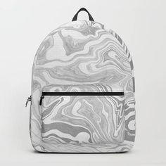 f582afcb7ee8 Marble Backpack Gray Marble Print Backpack White Marble Book Bag School  Backpack Women College Girl