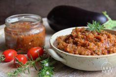 Pečená lilková směs s paprikami a rajčaty