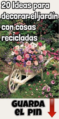 20 Ideas para decorar el jardín con cosas recicladas - Oven Tutorial and Ideas Terrace Garden, Garden Art, Fence Garden, Garden Beds, Kids Attractions, Black And White People, Small Space Interior Design, Gardening For Beginners, Photography Tutorials