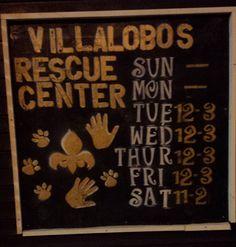 Villalobos Rescue Center Sign
