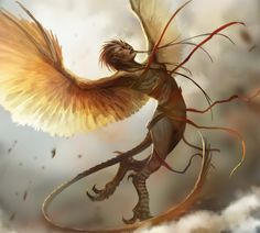 """In Greek mythology, Harpies are winged monsters with the face of an ugly old woman and crooked, sharp claws. However, earlier versions of Greek stories described Harpies as beautiful winged maidens. The name Harpy comes from the Greek word """"snatcher."""" They were hungry, filthy creatures who snatched food, objects and even people."""