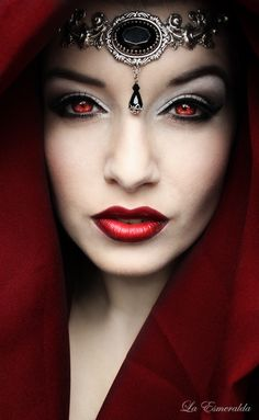 "From George RR Martin's ""A Song of Ice and Fire--Game of Thrones."" Carice van Houghton as Melisandre, Priestess of Asshai, aka 'The Red Woman' by la-esmeralda Dark Beauty, Gothic Beauty, Steampunk Fashion, Gothic Fashion, Vampire Fashion, Cosplay Costume, Goth Art, Dark Gothic, Red Queen"