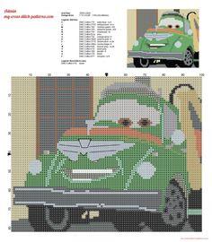 Chug fuel truck Disney Planes cross stitch pattern (click to view)