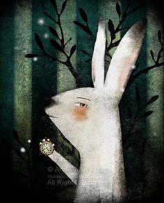 The White Rabbit Alice in Wonderland  open by TheNebulousKingdom, $15.00