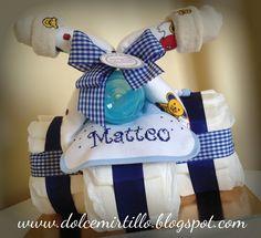 TRICICLO DI PANNOLINI PER MATTEO   www.dolcemirtillo@gmail.com