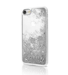 #guess #silver Liquid #glitter  #phone #cover Hardcover for #iphone  X #geek
