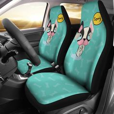 Black Yorkshire Rose Design Car Seat Head Rest Covers Pack Of Two Accessory Gift