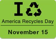 America Recycles is November 15, 2014!  Take the pledge!