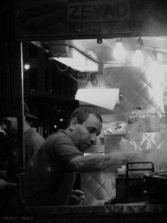 Manhattan Halal food vendors by Ray Wu.