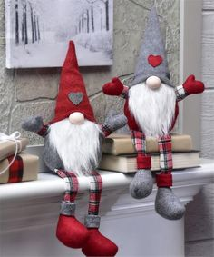 Gnome tall Christmas Holiday Fabric Gnome - Christmas Gnome - Xmas Gnome - Holiday gift - Gift for her - Holiday decorThis Gnome Shelf Sitter Décor is perfect! Gnomes are thought to guard treasures, this gnome will guard all of your Holiday goodies. Christmas Gnome, Christmas Knitting, Christmas Holidays, Christmas Decorations, Beard Christmas Ornaments, Outdoor Christmas, Christmas Christmas, Theme Noel, Scandinavian Christmas