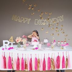 BUTTERFLIES IN PINK -R's BIRTHDAY-|ARCH DAYS