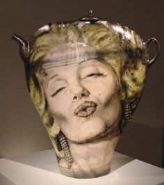 "Noi Volkov ""Two of a Kind"" teapot, 2002, Ceramic 25"" x 17"" x 6"", Courtesy of John Elder Gallery"