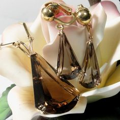 Only 2 days left to purchase this Fabulous Vintage 30ct Smoky Quartz Pendant & Earring Set for only $229