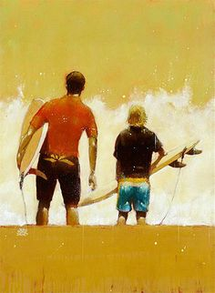 """""""Shorebreak"""". A surf painting by Frennch artist Jean Marie Drouet***Research for possible future project."""