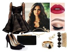 """""""Sem título #501"""" by shadowhunters12 ❤ liked on Polyvore featuring Jimmy Choo, Dennis Basso, Alexis Bittar, Kenneth Jay Lane, Brixton, Charlotte Russe and JustFab"""