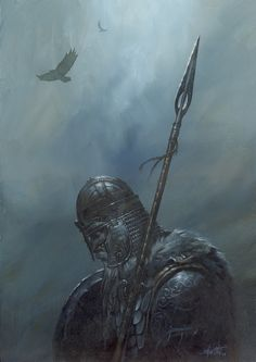 Gungnir, the lance of Odin - Didier Graffet Gungnir was made by Draugir at the urging of Loki