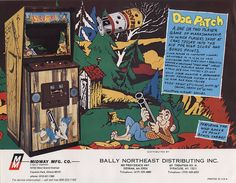 The Arcade Flyer Archive - Video Game Flyers: Dogpatch, Midway Manufacturing Co. History Of Video Games, Archive Video, Make A Flyer, Two Player Games, Classic Video Games, Retro Games, School Videos, Arcade Machine, Graphic Design Trends