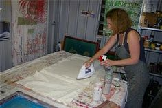 Textile designer (Philippa Wilkinson) Pip Willy's space