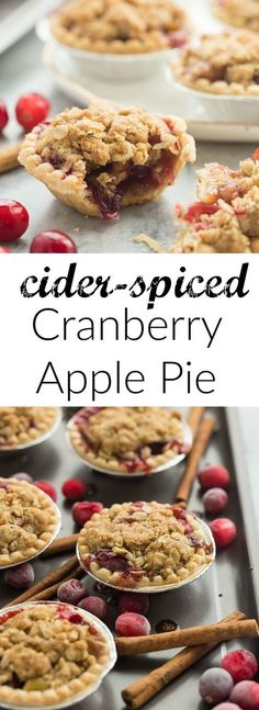 These Mini Cider Spiced Cranberry Apple Pies are so perfect for fall ...