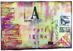 Art Journal Video - using Tags to embellish 'mistakes' ~ The Eyes See Everything (Marjie Kemper)