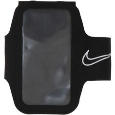 Nike Women Smartphone Holder Armband For Running ($38) ❤ liked on Polyvore featuring accessories, tech accessories, nike, transparent smartphone, water resistant headphones, water resistant smartphones and folding headphones