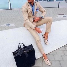 Creme #suit and @tangerineshoesofficial by @louisnicolasdarbon  [ http://ift.tt/1f8LY65 ]