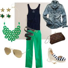 Money...it's that time of year. Green, navy and a little bit of gold kind of love. I must have this necklace and vintage Vuitton.