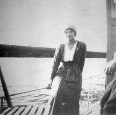 "Grand Duchess Tatiana Nikolaevna Romanova of Russia on a boat on the Dneiper in 1916. ""AL"""