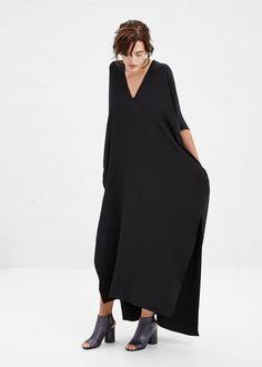 MINIMAL + CLASSIC: Zero + Maria Cornejo Long Elie Dress in Black #totokaelo #zeromariacornejo #maisonmartinmargiela
