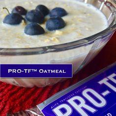PRO-TF™ Avena 1 taza de agua o leche de almendras sin azúcar, 1/3 taza de avena, 1 cucharada de PRO-TF, Canela (Opcional). Hierve la leche de almendras en una olla y mezcla con la avena. Reduce el calor y cocina las hojuelas de avena hasta que estén suaves, revolviendo ocasionalmente. Añade PRO-TF y canela y mezcla bien. Sírvelo caliente. http://4life4me.com