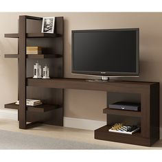 Ideaz International Artesano TV Stand for TVs up to 42 Tv Unit Furniture, Home Decor Furniture, Furniture Design, Tv Unit Decor, Tv Wall Decor, Tv Cabinet Design, Tv Wall Design, Tv Wanddekor, Modern Tv Wall Units