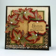 Autumn Splendor Wreath by bbcrazy - Cards and Paper Crafts at Splitcoaststampers