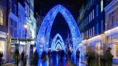Christmas lights on South Molten Street